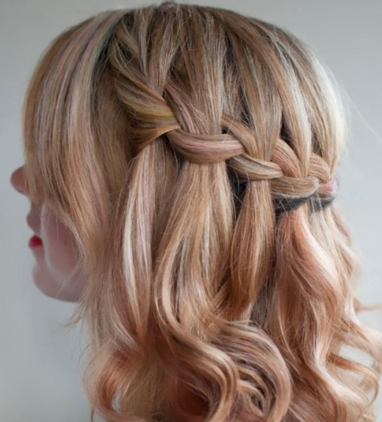 Женские красивые и праздничные прически на средние волосы с фото и видео пошагово