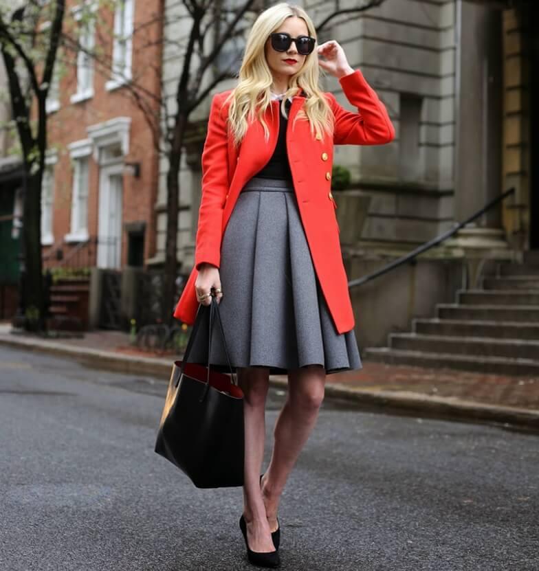 С чем сочетается красный цвет в одежде - фото стильных образов