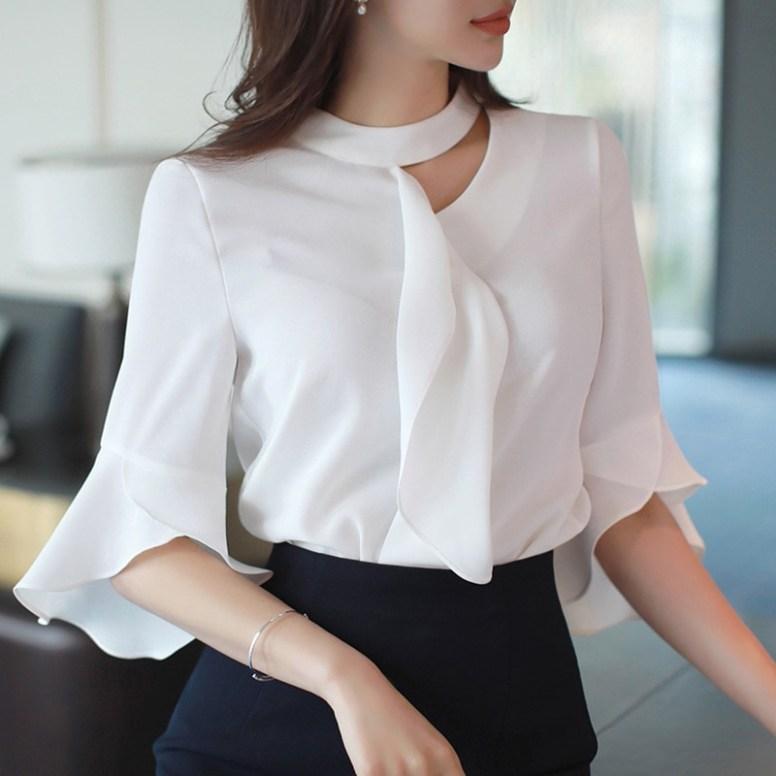 Модные фасоны женских блузок из шифона с фото