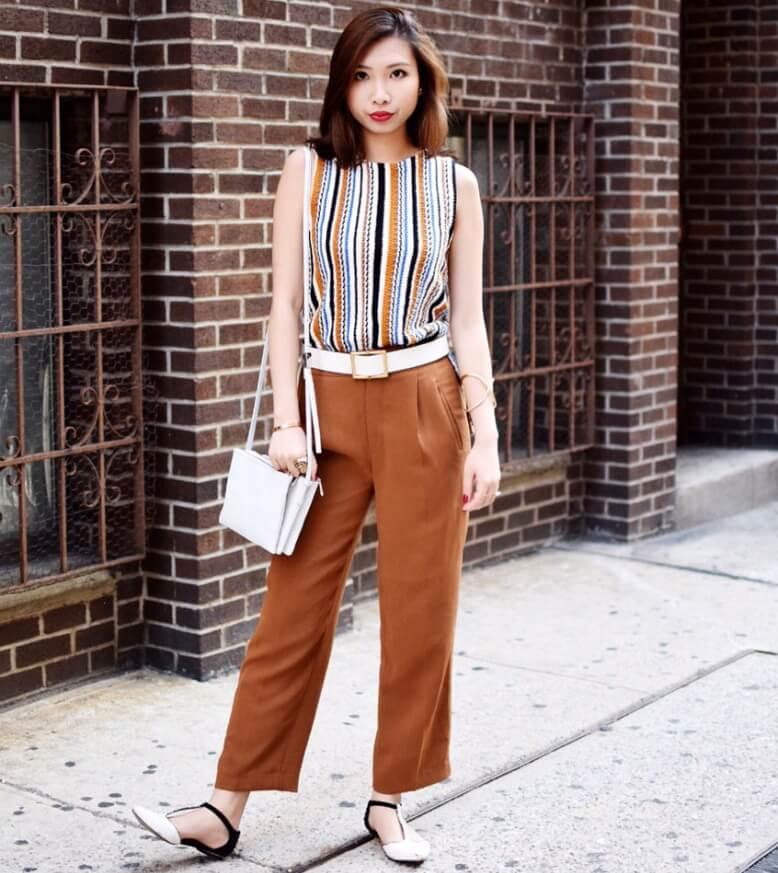 С чем носить коричневые женские брюки - выбираем подходящий оттенок и стиль