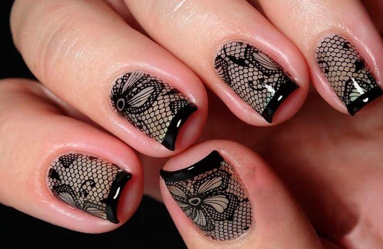 последнее время черная вуаль на ногтях фото принадлежат