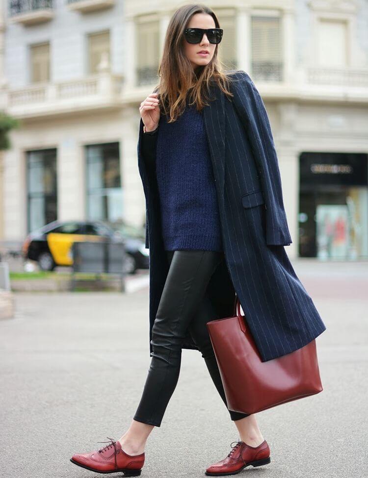С чем носить модную обувь женские оксфорды - фото стильных сочетаний