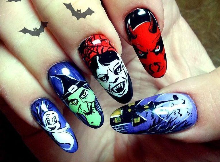 Маникюр на Хэллоуин: фото идеи на короткие и длинные ногти