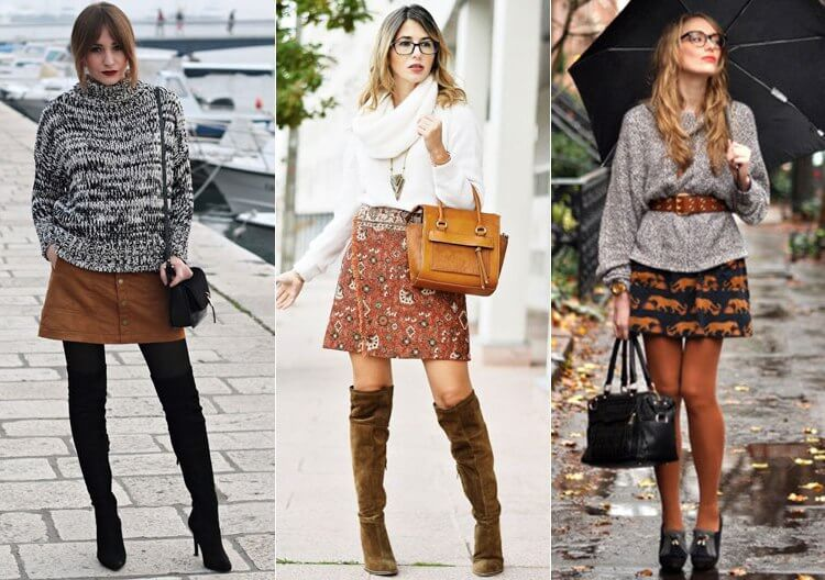 Модные и красивые осенние юбки - фото стильных моделей