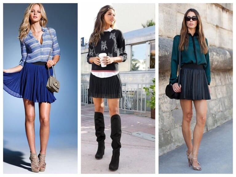 С чем носить плиссированную юбку - фото модных сочетаний