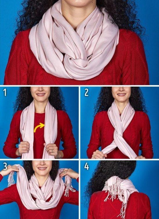 Как красиво завязать палантин на голове и шее разными способами: фото и видео пошагово