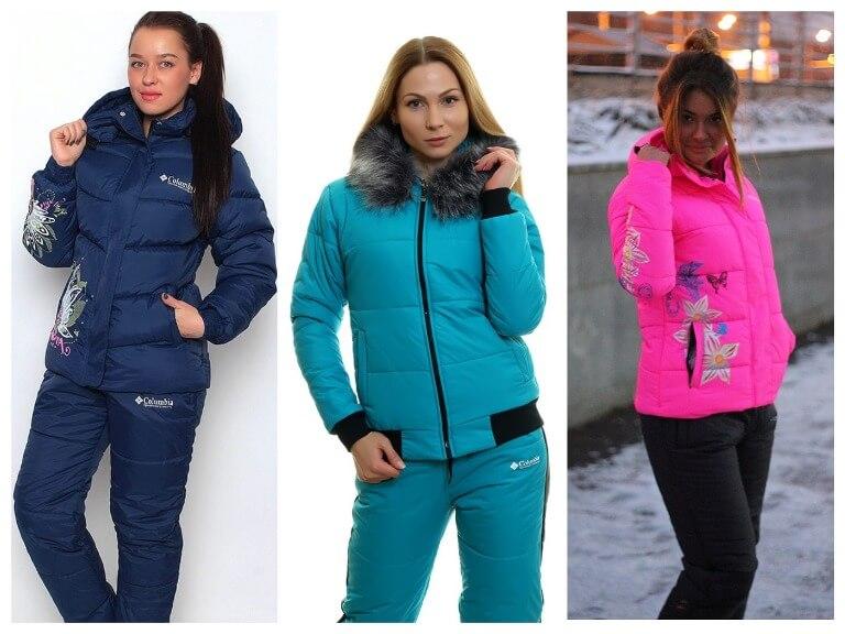 Зимние женские костюмы - модные и теплые модели с фото