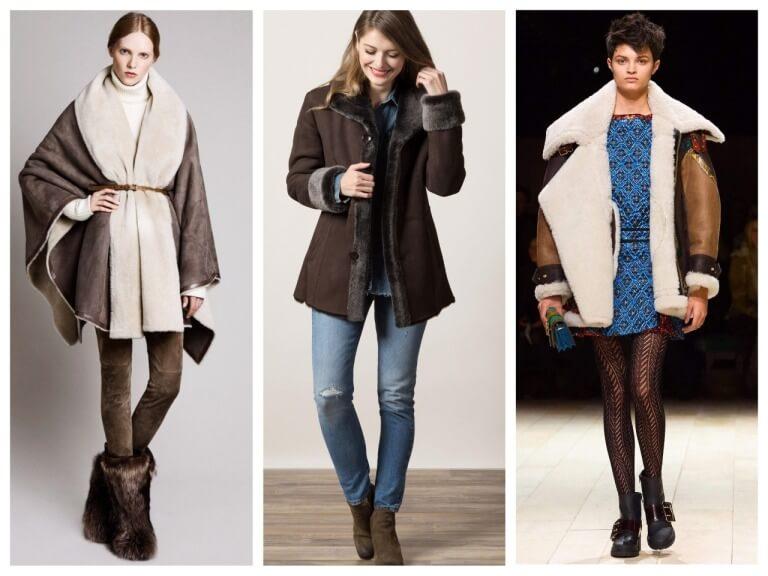 Женские зимние дубленки - модные модели на 2020 год с фото
