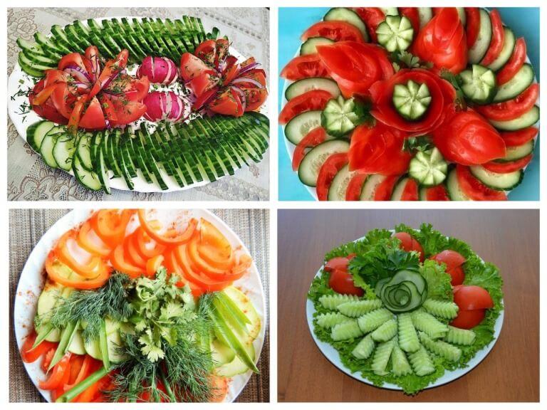 Красивое оформление овощной нарезки в домашних условиях с фото и видео