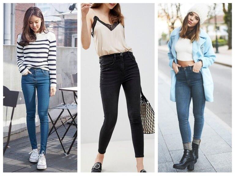 Женские джинсы с завышенной талией - с чем носить?