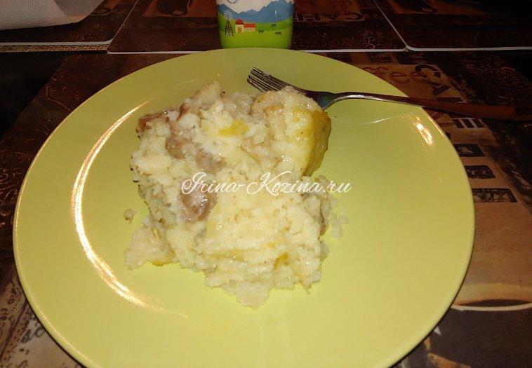 Бабка картофельная в духовке с мясом и луком