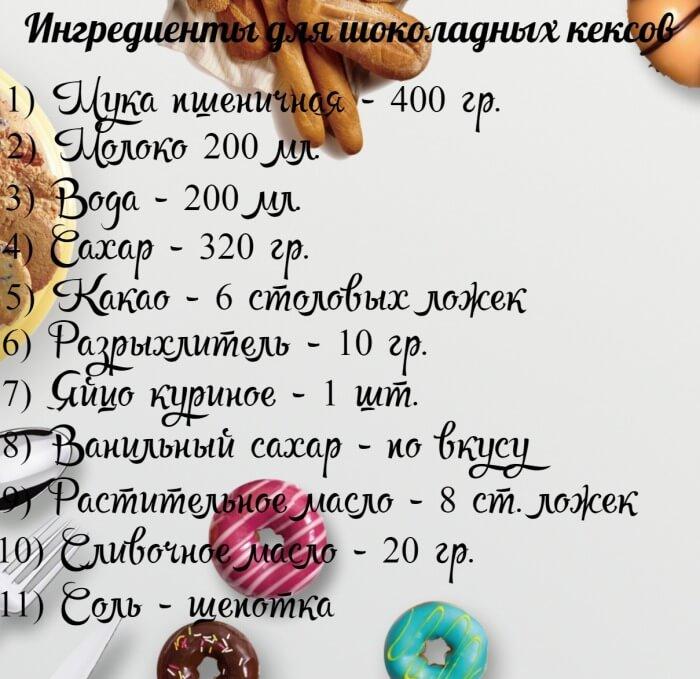 Как приготовить вкусные шоколадные кексы - простой рецепт с фото
