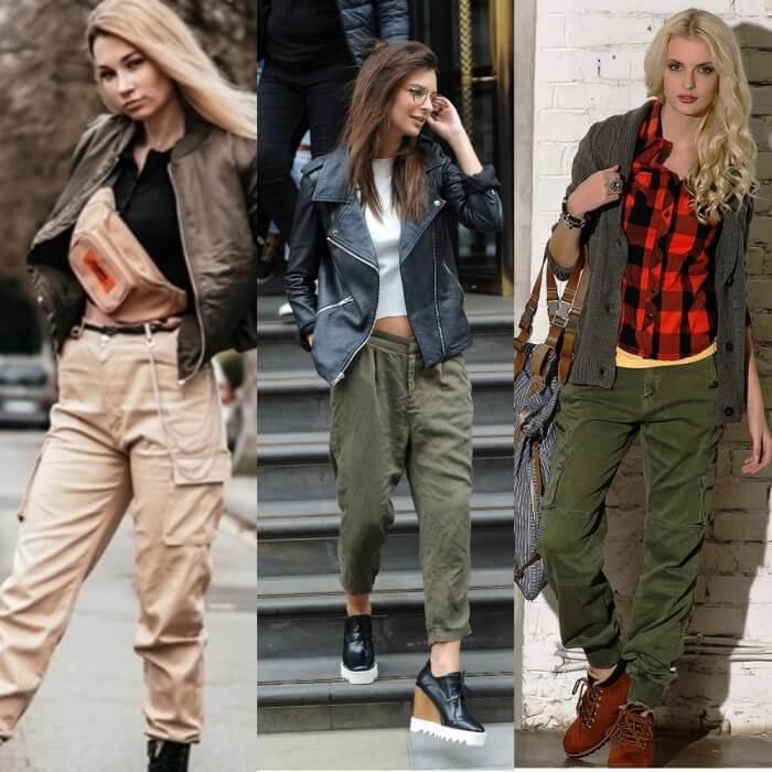 С чем носить брюки карго женские в разных стилях?