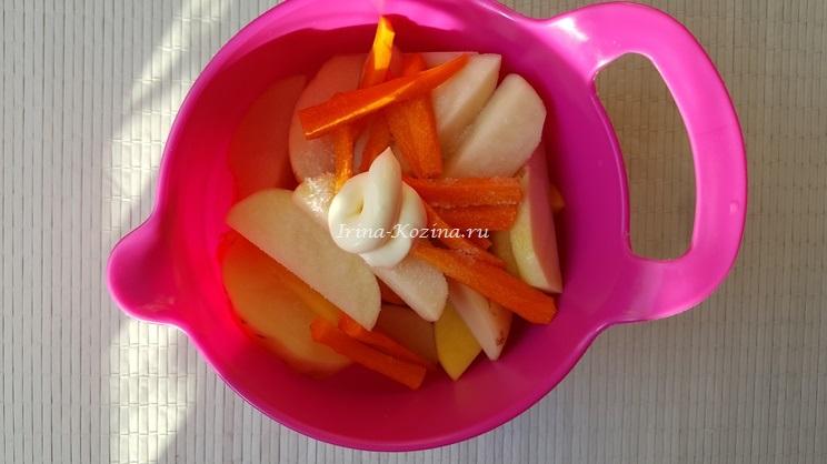 Как вкусно приготовить курицу с яблоками в духовке?