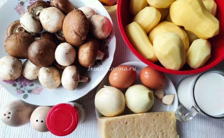 Картошка с грибами в духовке - 5 простых рецептов