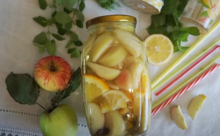 Компот из яблок на зиму без стерилизации - 5 простых рецептов