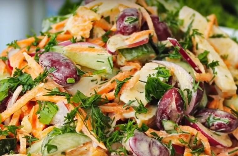 Салат с корейской морковью - простые и вкусные рецепты
