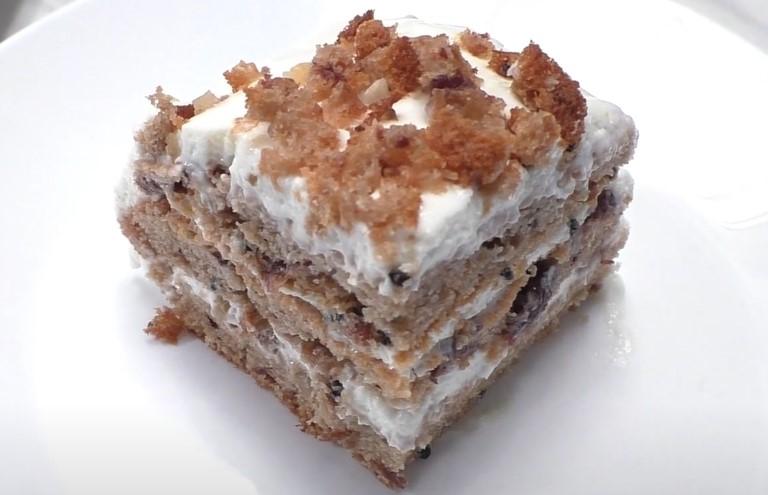 """Торт """"Трухлявый пень"""" с вареньем в домашних условиях"""